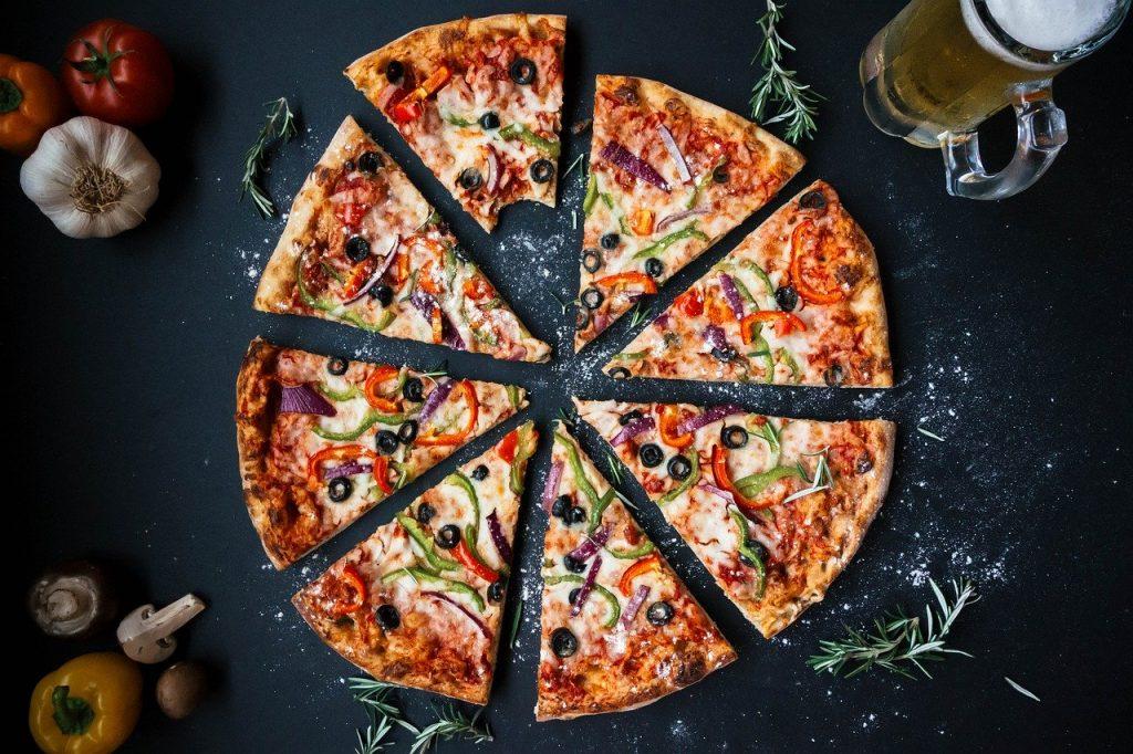 Maths et cuisine - parts de pizza