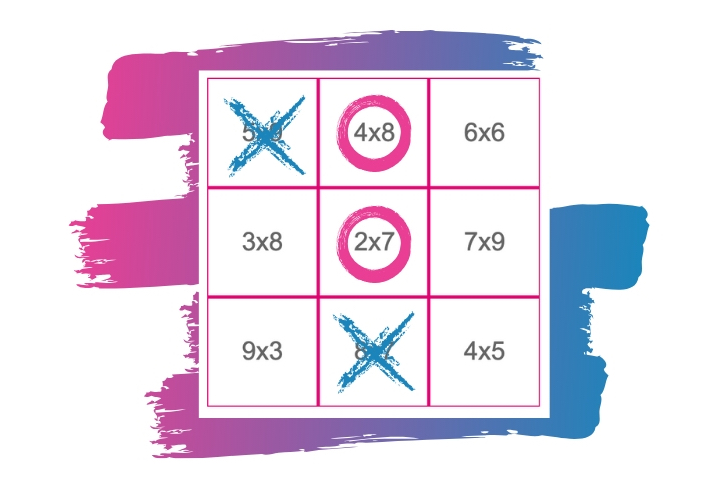 Jeu de Morpion Tables de Multiplication - Tic Tac Toe