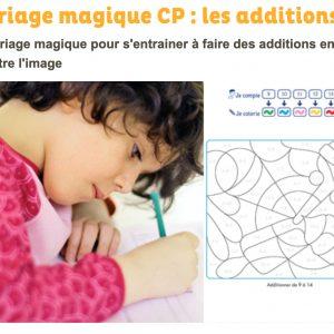 Coloriage magique additions CP - Grandir avec Nathan