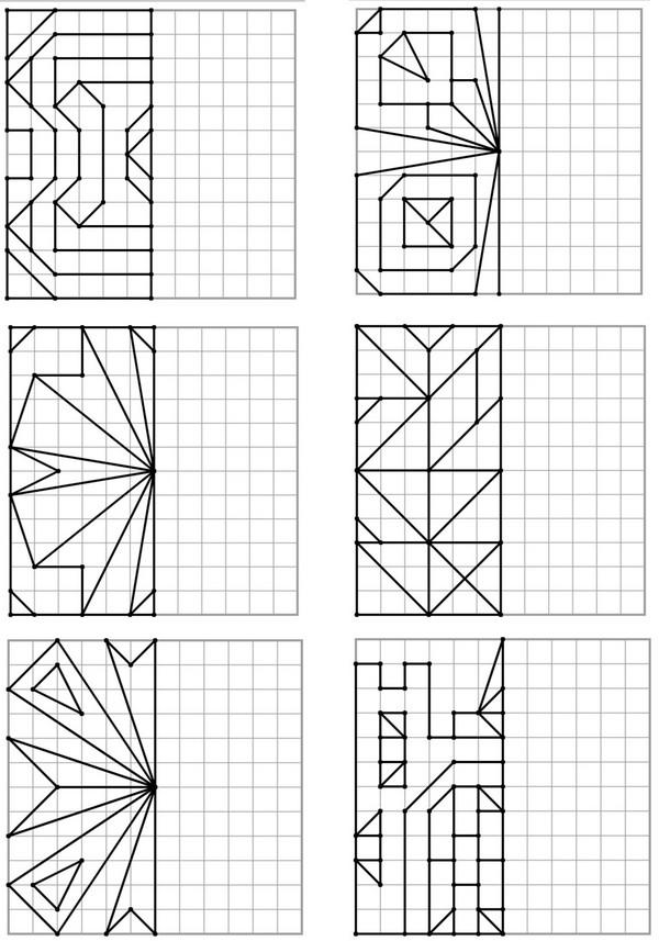 Exercices de symétrie proposés par le site Jeux Remue ...