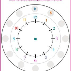 Tables de multiplication : Revoir la table de 5 en apprenant à lire l'heure